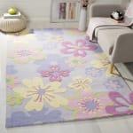 Safavieh Purple Flowers Rug - 1