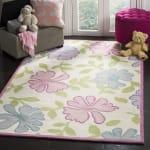 Safavieh Pink & Blue Floral Kids Rug - 1