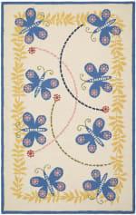 Safavieh Yellow & Blue Butterflies Kids Rug - 2