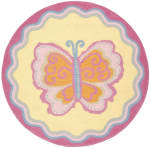 Safavieh Mulitcolor Butterfly Kids Rug - 1