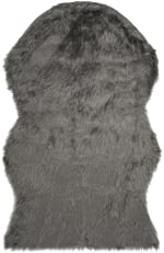 Dylan Gray Faux Sheepskin 3'x5' Rug - 1