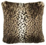 Safavieh Faux Fur Leopard Brown Pillow - 2