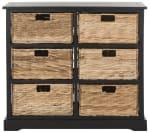 Safavieh Brayden Black 6 Basket Storage Chest - 1