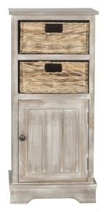 Safavieh Ezra Tan Storage Cabinet with Baskets - 2
