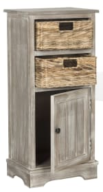 Safavieh Ezra Tan Storage Cabinet with Baskets - 3