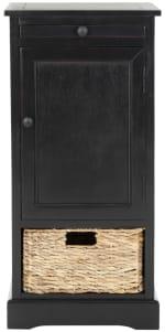 Safavieh Jason Tall Black Storage Cabinet - 2