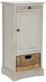 Jason Tall Gray Storage Cabinet - 3