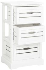 Joshia 3 Drawer Ivory Storage Cabinet - 3