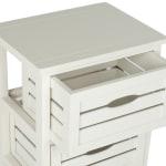 Joshia 3 Drawer Ivory Storage Cabinet - 4