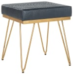 Safavieh Joan Navy Faux Ostrich Square Bench - 3