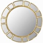 Safavieh Harper Gold Iron & Glass Mirror - 2