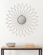 Safavieh Jasmine Gold Iron & Glass Mirror - 1