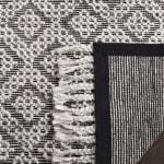 Black Wool Rug - 4