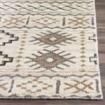 Brown Wool Rug - 3