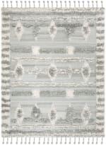 Gray Wool Rug - 1