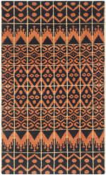 Orange Wool Rug - 1
