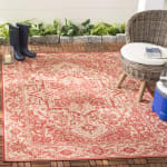 Red Polypropylene Rug - 4