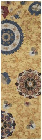 Safavieh Gold Wool Rug - 5