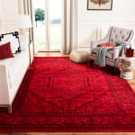 Safavieh Red Polypropylene Rug - 1