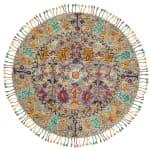 Safavieh Morgan 453 6' X 6' Round Gray Wool Rug - 2