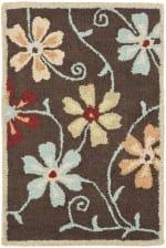 Brown Wool Rug - 2
