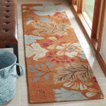 Safavieh Orange Wool Rug - 1