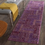 Safavieh Purple Polypropylene Runner  Rug - 1