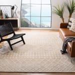 Safavieh Tan Wool Rug 8' x 10' - 1