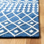 Safavieh Navy Wool Rug - 3