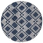 Safavieh Essence Blue Wool Rug 5' Round - 3