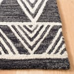 "Essence Black Wool Rug 2'25"" x 7' - 2"