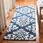 Essence Blue Wool Rug - 1
