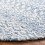 Essence Blue Wool Rug 5' Round - 3