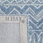Essence Blue Wool Rug 5' Round - 4