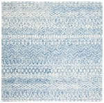 Essence Blue Wool Rug 5' Round - 2