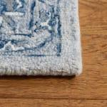 """Blue Wool Rug 2'25"""" x 7' - 3"""