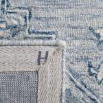 """Blue Wool Rug 2'25"""" x 7' - 4"""