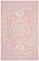 Essence Pink Wool Rug 5' x 8' - 3