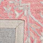 Essence Pink Wool Rug 5' x 8' - 4