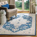 Essence Blue Wool Rug 9' x 12' - 1