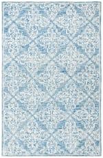 Blue Wool Rug 4' x 6' - 3