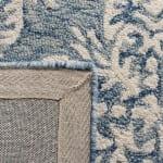 Blue Wool Rug 4' x 6' - 4