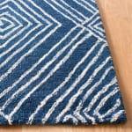 Blue Wool Rug 4' x 6' - 2
