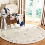 Safavieh Essence Gray Wool Round Rug  5' - 1