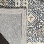 Essence Blue Wool Round Rug 5' - 4