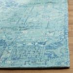 Blue Polyester Rug - 6