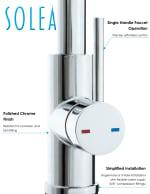 Safavieh Enchant Chrome Brass Single Control Dual Function Spray Pull Down Kitchen Faucet - 6