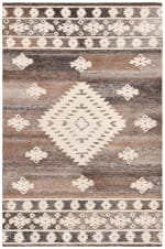 Vail Ivory & Brown Wool Rug - 2