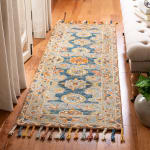 Vail  Gray & Blue Wool Rug - 1
