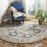 Vail  Gray & Blue Wool Rug - 13